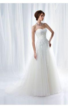 Discount Sweetheart Organza Floor-length A-line Sleeveless Wedding Dresses
