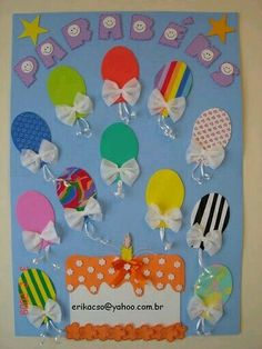 back to school bulletin board ideas Birthday Bulletin Boards, Classroom Birthday, Birthday Wall, Classroom Board, Birthday Board, Classroom Displays, Preschool Classroom, Classroom Decor, Preschool Activities