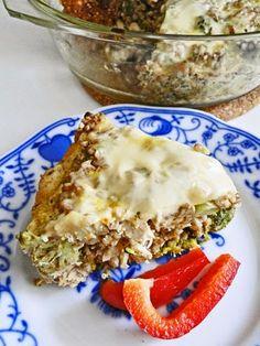 kudy-kam...: Zapečená pohanka s brokolicí a kuřecím masem Lasagna, New Recipes, Oatmeal, Breakfast, Ethnic Recipes, Fitness, The Oatmeal, Morning Coffee, Rolled Oats