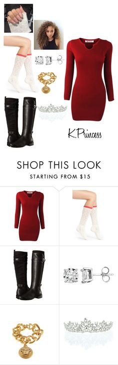 """""""Untitled #325"""" by xkprincess on Polyvore featuring Kensie, Aerosoles, Versace and Kate Marie"""