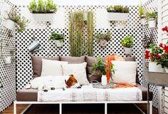 How to Decorate Your Tiny Balcony via @MyDomaine