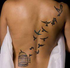 #tattoo #minimalism #stripes #birds