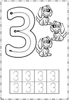 Starting points and directional arrows given to help practice writing numbers 1 - Preschool Number Worksheets, Free Kindergarten Worksheets, Preschool Writing, Numbers Preschool, Preschool Learning Activities, Learning Numbers, Preschool Printables, Kids Learning, Math For Kids