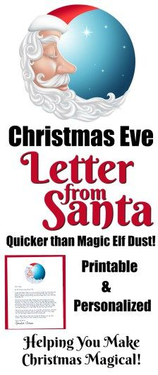 Christmas Eve Letter from Santa! Printable and Personalized! Helping You Make Christmas Magical!! || Letters from Santa