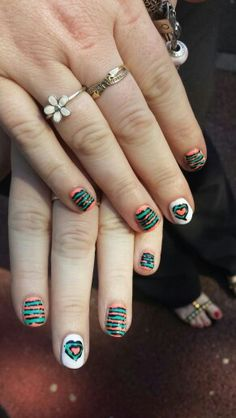 Funky Gelish nails by Felicity Burgess - Young at Belle Dame Nails.