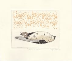 'Silence is golden' Original Drypoint Etching by Kay McDonagh.   Original prints available.