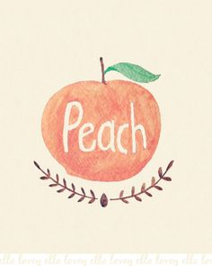 Peach 11x14 Art Print by ellolovey on Etsy, $32.00