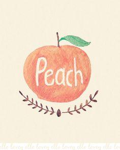 Peach 11x14 Art Print by ellolovey on Etsy, $32.00