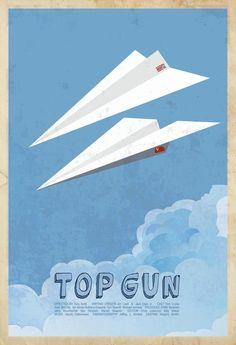 Top Gun (1986)  by Edgar Ascensao  #movieposters #minimalmovieposters #TopGun #EdgarAscensao