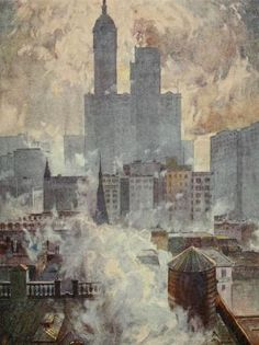 New York by Martin Lewis by emmeffe6, via Flickr — After seeing lots of black and white drypoints, it was great to see how Lewis used color.