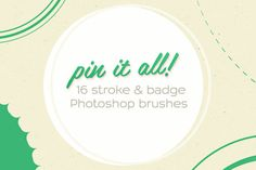16 'Pin It All!' Photoshop Brushes by Frisk Shop on Creative Market