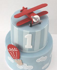 vintage airplane party cake - Google Search