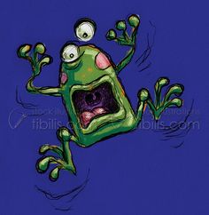Freaked out frog on Behance