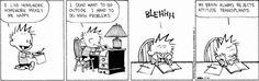 Calvin tries a good attitude