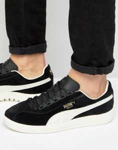 Puma Dallas Og Sneakers In Black 36222108 - Black Asos Online Shopping, Online Shopping Clothes, Latest Fashion Clothes, Latest Fashion Trends, Black Puma, Puma Sneakers, Nike Sb, Best Brand, Lacoste