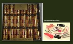 Cym Cards. 6 x 12.5 inch Luxury Family Crackers in Tray from Tom Smith - Red & Gold Tartan €11