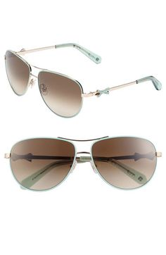 kate spade new york 'circe' 59mm metal aviator sunglasses available at #Nordstrom