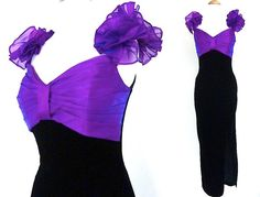 Vintage Evening Gown // 80s Prom by VolereVintage on Etsy