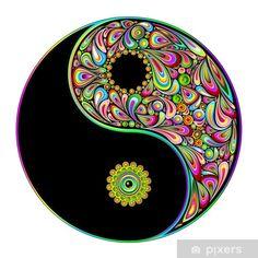 Arte Yin Yang, Ying Y Yang, Yin Yang Art, Psychedelic Art, Dot Painting, Stone Painting, Yen Yang, Foto Logo, Art Hippie