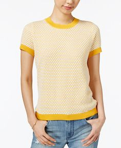 Maison Jules Short-Sleeve Sweater, Only at Macy's