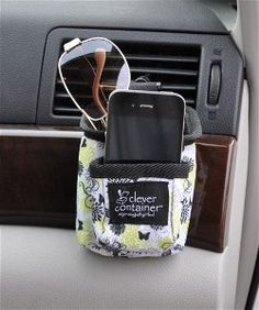 Car Pocket - Store your phones, glasses, receipts, etc. in this clever organizer that turns your car's air vents into efficient and organized storage space. Keep your valuables free from scratches in each of the two compartments. (3.25x2.75x4.5) Item 0121-GB $11.00