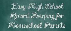 Easy High School Record Keeping