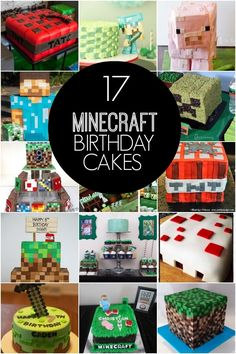 Do you have a Minecraft gamer in your house? You've gotta see this round-up of Awesome Minecraft Birthday Cakes! Minecraft Party, Pastel Minecraft, Minecraft Birthday Cake, Easy Minecraft Cake, Minecraft Crafts, Lego Minecraft, Minecraft Ideas, Minecraft Skins, Minecraft Buildings