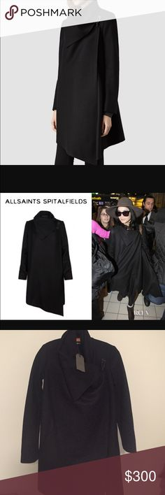 MWT all saints city monument coat Brand-new never worn will coat with one metal closure. Super luxurious feel. Warn by tons of celebrities All Saints Jackets & Coats