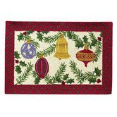 Found it at Wayfair - Ornaments and Berries Hooked Rug