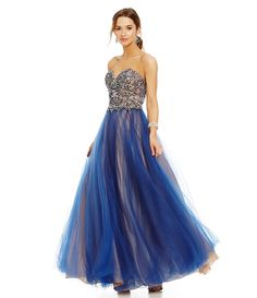 Glamour by Terani Couture Bead Designed Bodice Ball Gown