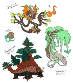 Contest entry for 's contest! The prompt was to create 3 branch evolutions for the little seed guy! Capseed Type: Grass Ability: adaptability Capseed are indecisive pokemon, they are known to wand. 3 Branches, Creature Design, Bowser, Evolution, Fairy Tales, Concept Art, Cool Designs, Creatures, Deviantart