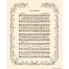 LOVE LIFTED ME  8 X 10 Antique Hymn Art Print by VintageVerses, $5.00