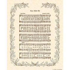 LOVE LIFTED ME  8 X 10 Antique Hymn Art Print by VintageVerses, $5.00