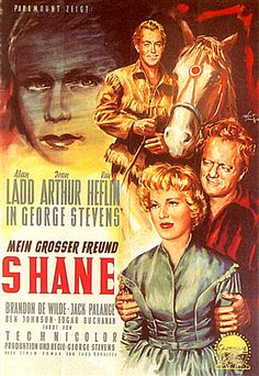 SHANE (1953) - Alan Ladd - Jean Arthur - Van Heflin - Directed by George Stevens - Paramount. Description from pinterest.com. I searched for this on bing.com/images