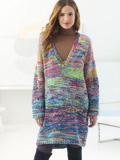 Deep V-Neck Pullover (Knit) - Patterns - Lion Brand Yarn