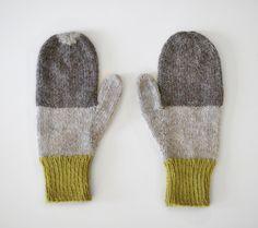 sarah mcneil - mittens no. 22:  undyed wool + merino