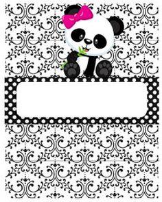 Professora Tati Simões: Kit Panda Preto, branco e rosa para imprimir grátis Panda Themed Party, Panda Party, Panda Icon, Panda Birthday, Baby Shower Princess, Party Themes, Picture Frames, Art Projects, Christmas Crafts