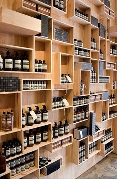 I want to make love to these shelves. I'd rather us actual wood wine boxes, though... anyone want to give me some wine boxes?