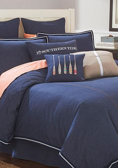 southern tide bedding, portside comforter sets | classic preppy