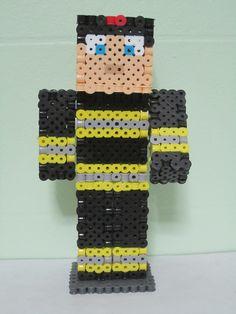 FDNY Minecraft Skin 3D_Perler Beads
