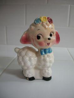 Vintage 1960 70s Lamb Figurine Made in Japan by RetroScenee09, $3.99