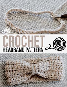 10 Free Crochet Head Wrap Patterns (including ear warmers and headbands): Crochet Ear Warmer - Headband Free Pattern