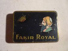 rare cigarette tin  FAKIR ROYAL