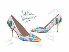 Tabitha Simmons, S/S13. Open Toe, fashion illustrated - opentoeillustration.com