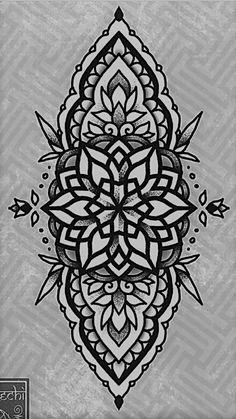 #flash #redeyechi #sketch #tattoo #mandala