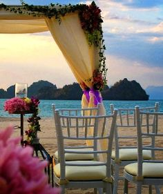Vows always come with a view at @Four Seasons Resort Langkawi, Malaysia.