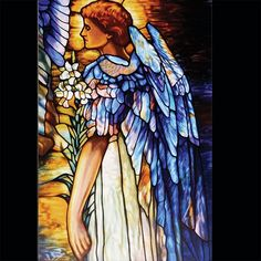 TIFFANY RESURRECTION ANGEL STAINED GLASS 23678 | Stauer.com