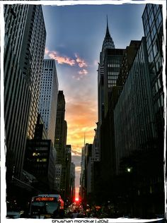 Finally Manhattanhenge!