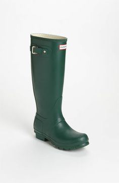 A classic! Hunter 'Original Tall' Rain Boots #emerald #coloroftheyear I want these so bad!!