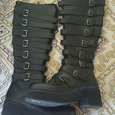 Shellys of London Boots Extremely nice leather. Unworn. Purchased from Macy's Shellys of London  Shoes Combat & Moto Boots